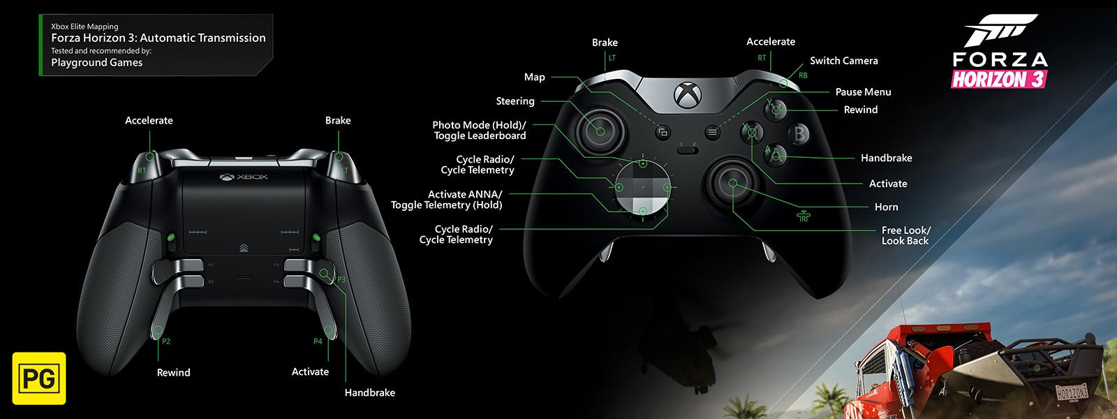 Forza Horizon 3 -Automatic Transmission Elite Mapping