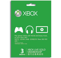 Xbox LIVE Three-Month Gold Subscription Card