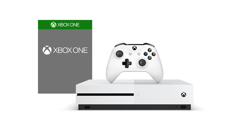 Xbox One S with a boxshot