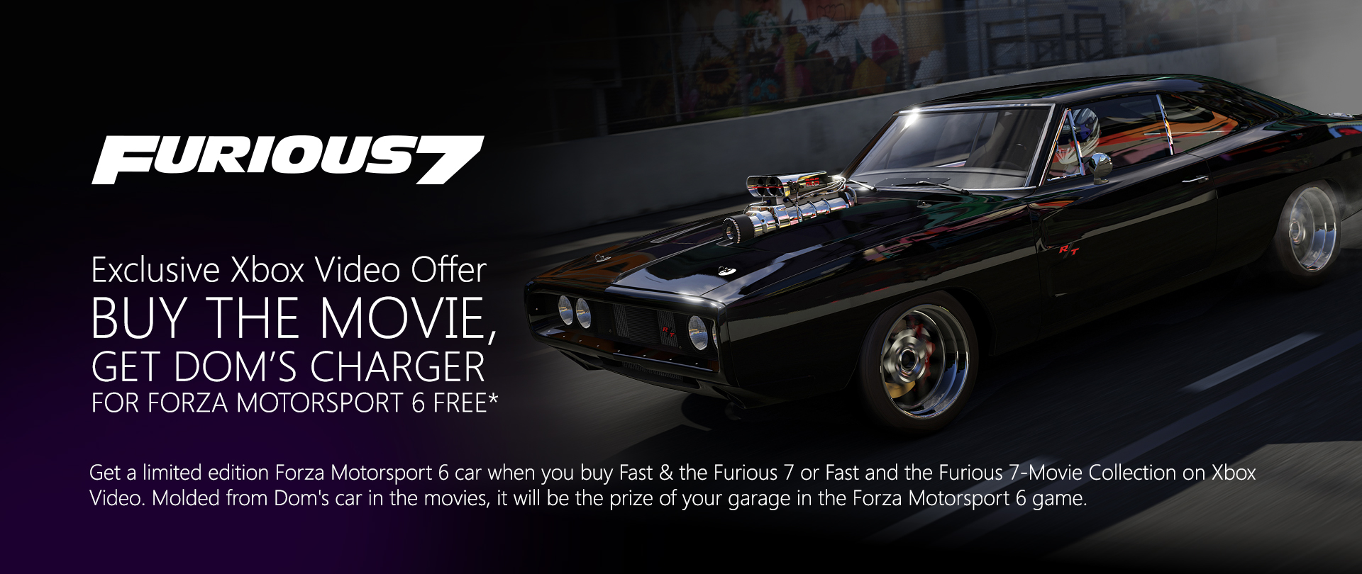 dom 39 s charger xbox video offer page 2 forza 6. Black Bedroom Furniture Sets. Home Design Ideas