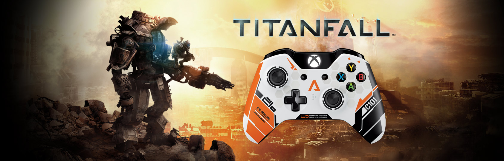 Especificação - Xbox One Titanfall Limited Edition Wireless Controller