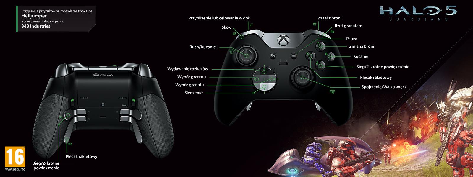 Halo 5 – mapowanie Elite pod kątem trybu Helljumper