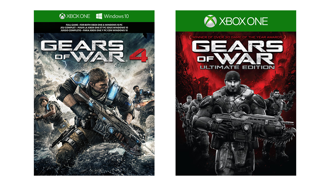 Gears of War 4 and Ultimate Edition box art