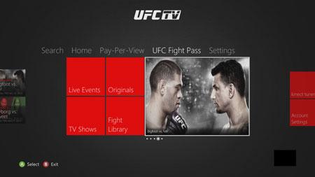 UFC FIGHT PASS page