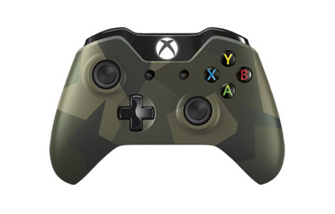 Xbox One Special Edition Green Camouflage Wireless Controller