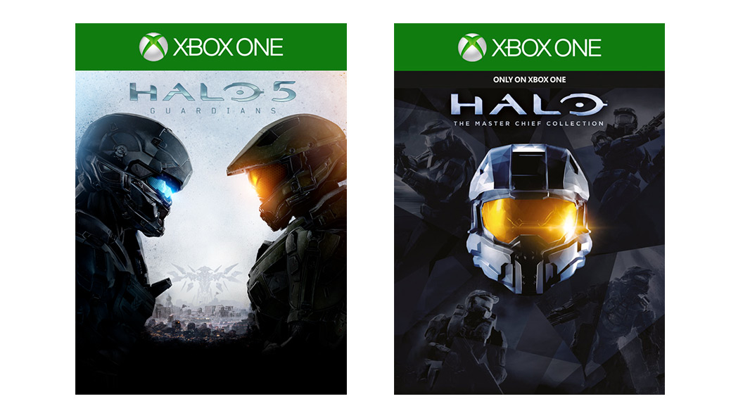 Halo 5: Guardians and Halo: The Master Chief Collection box art