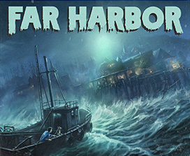 Barco en una tormenta en Far Harbor