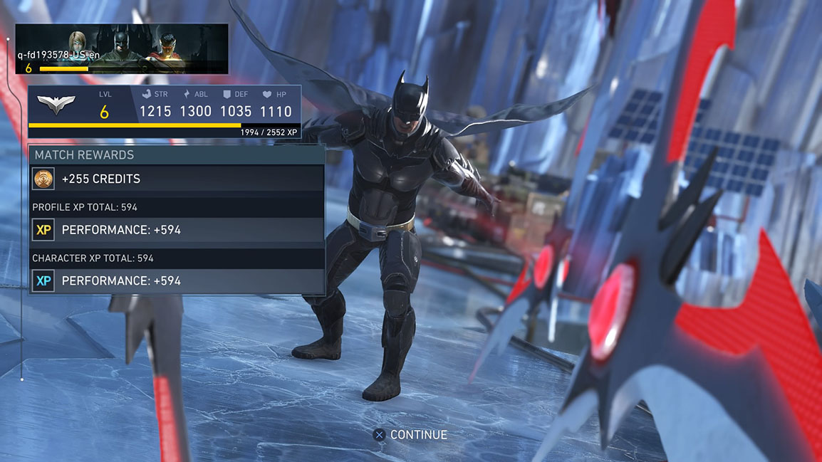 Injustice 2 Gear Experience Option