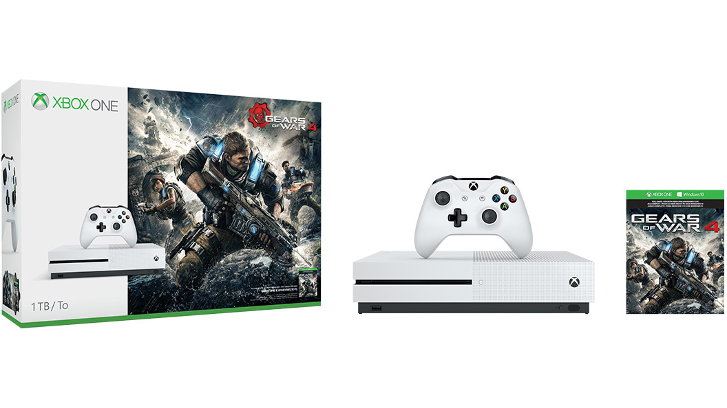 1 Tt:n Xbox One S Gears of War 4