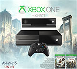 Xbox One with Kinect Assassins Creed Unity Bundle box shot front view