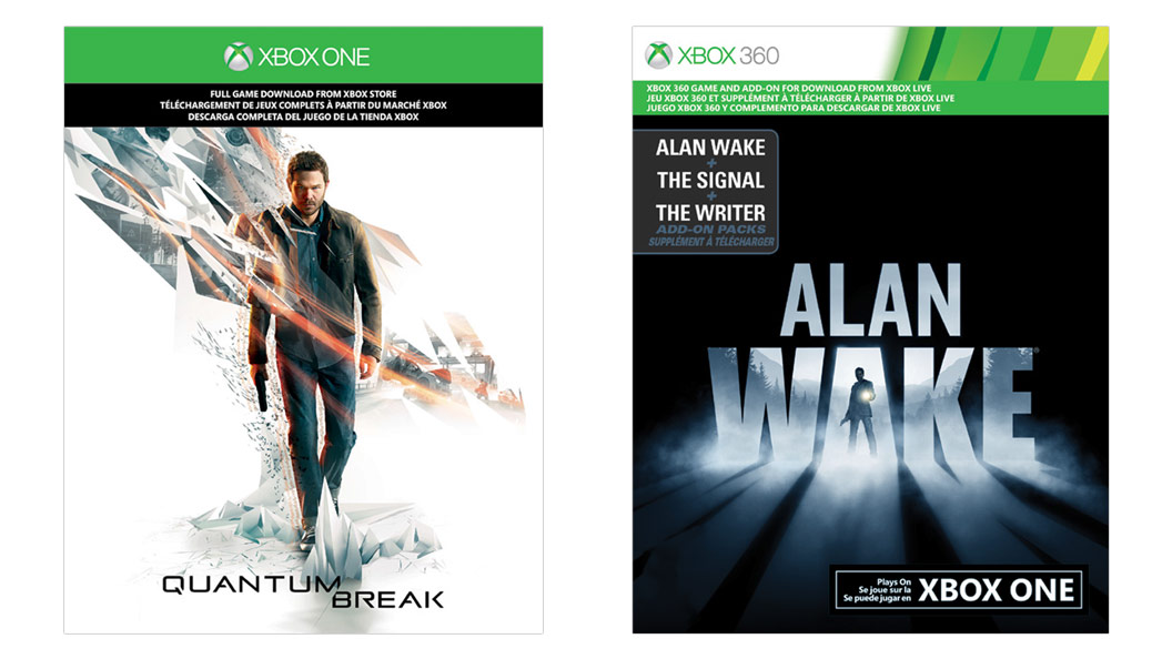 Quantum Break and Alan Wake Game Card