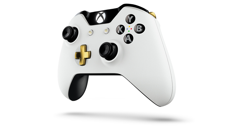 Lunar White Wireless Controller Angle 2