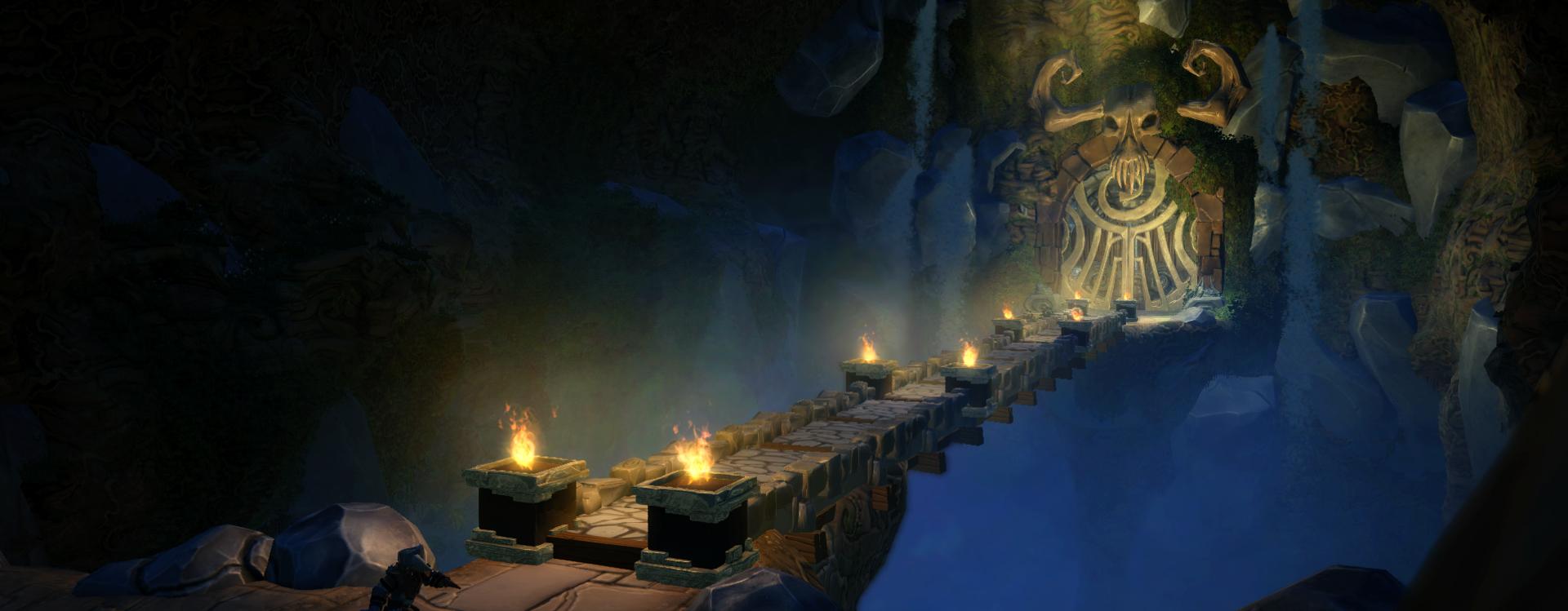 In-game walkway scene