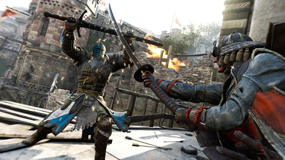 Combattimento tra cavaliere e samurai