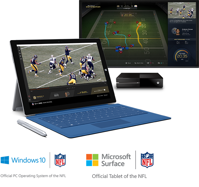 Microsoft Surface. Official tablet of the NFL