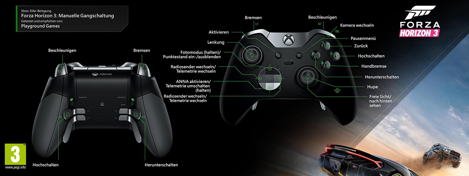 Forza Horizon 3 – Elitezuordnung für manuelle Gangschaltung