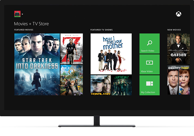 Movies and TV with Xbox Live Gold