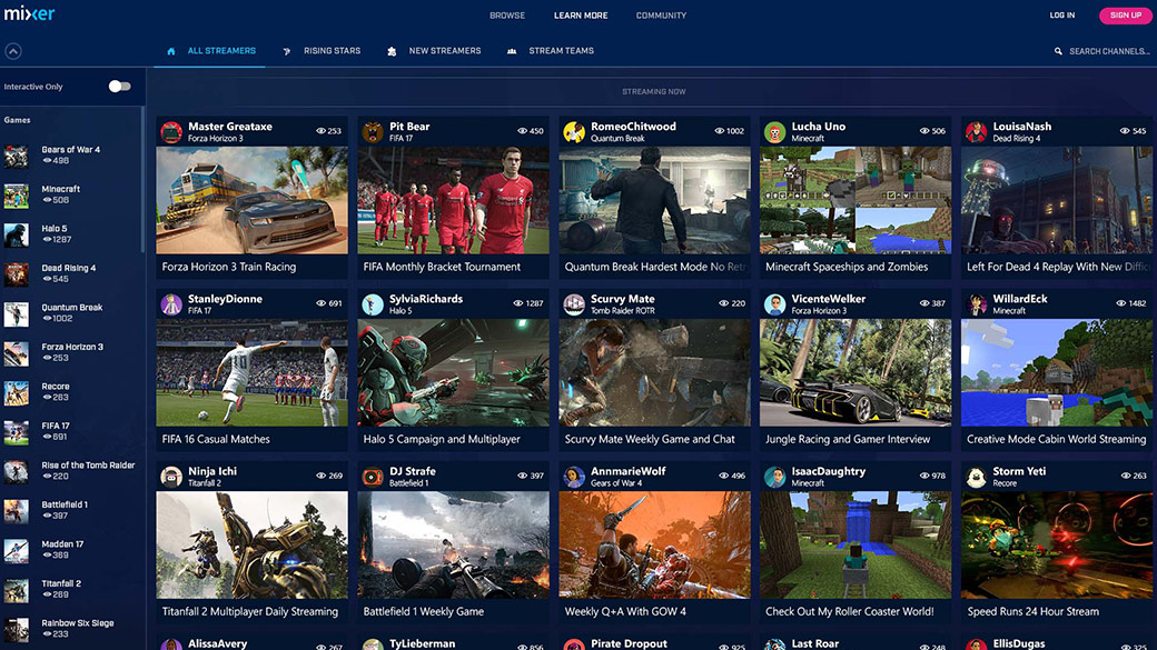 Mixer's Library of Streams