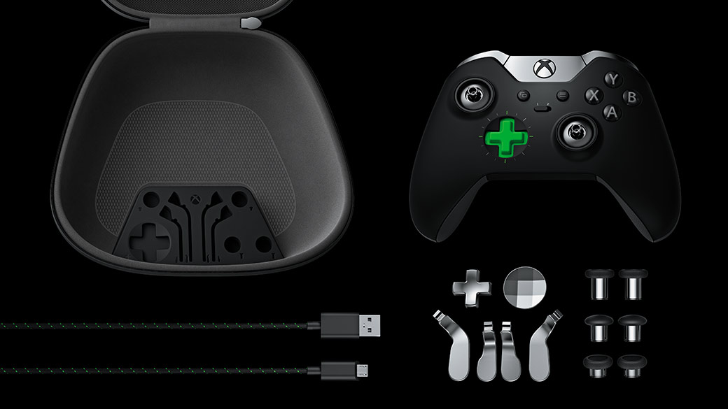 All parts of Xbox Elite Controller