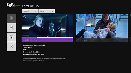 12 Monkeys Syfy Now screenshot