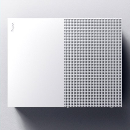 Top view of the Xbox One S