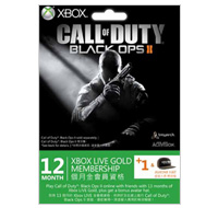 Call of Duty: Black Ops II Xbox LIVE 12 +1 Month + Avatar hat Gold Subscription Card