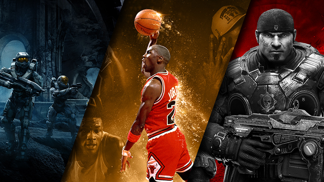 Halo 5, NBA 2K16 and Gears of War game play