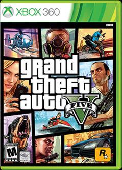 Grand Theft Auto V for Xbox 360 box shot