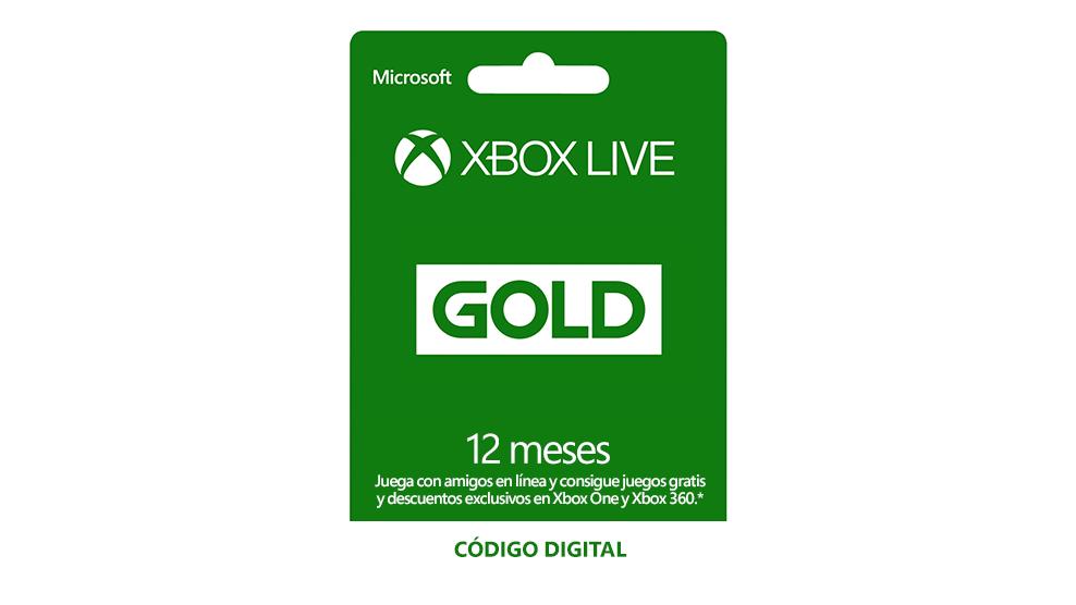 Membresía Xbox Live Gold de 12 meses