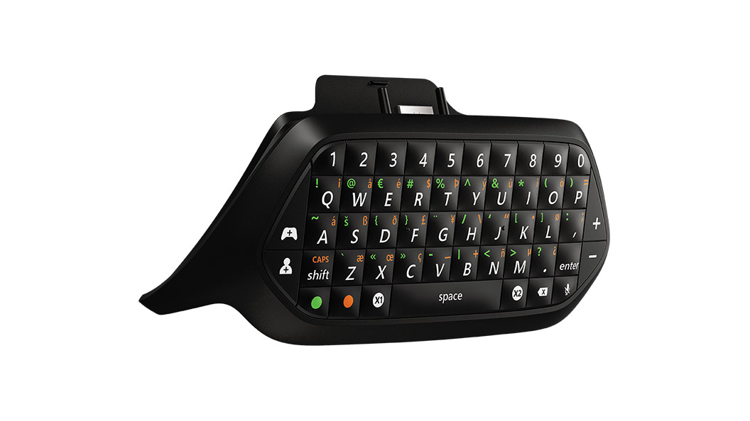 Xbox Chatpad right angle view
