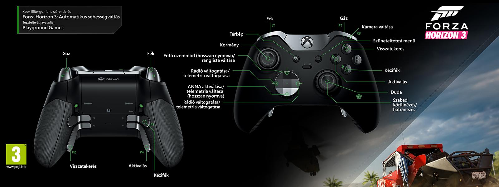 """Forza Horizon 3 – """"automata váltás"""" Elit-gombkiosztás"""