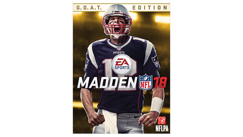 Imagen de la caja de Madden NFL18 GOAT Edition