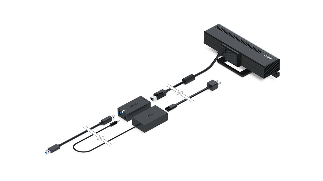 Adaptador do Kinect desconectado