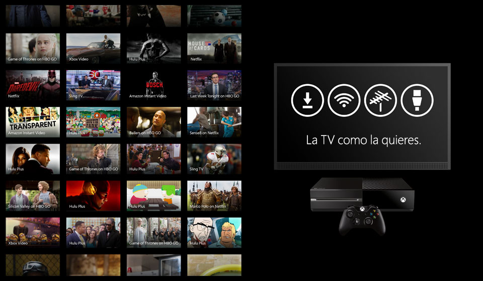 Watch TV the way you want it on Xbox One.