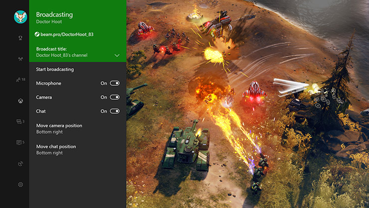 Xbox One でのゲーム配信