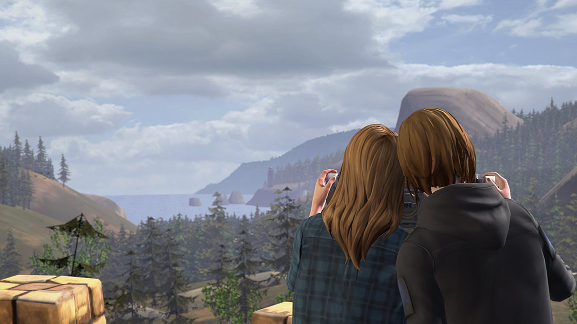 Chloe and Rachel enjoying the view