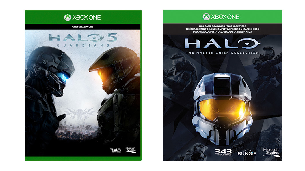 Halo 5 と Master Chief Collection のパッケージ写真