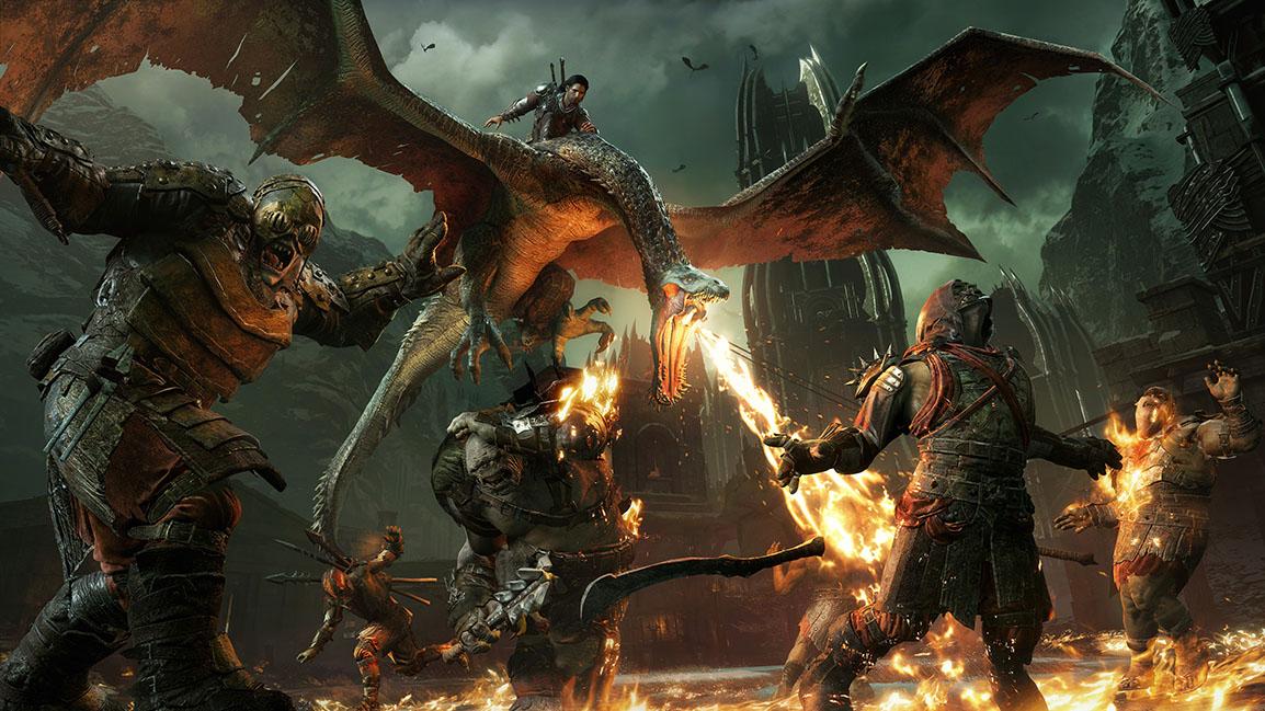 Talion rides a dragon