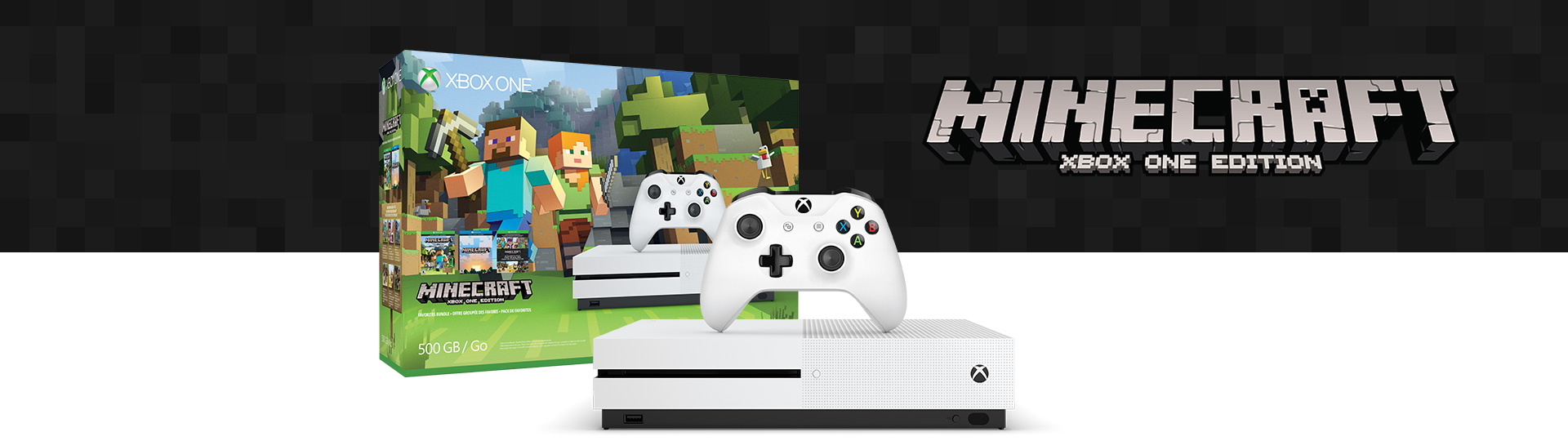 Xbox One S Minecraft Favorite Bundle