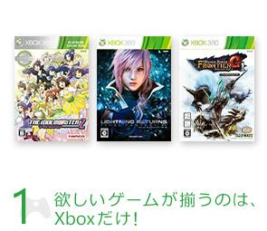 1 欲しいゲームが揃うのは、Xboxだけ!