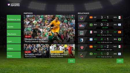 Univision Deportes Xbox One Live Streaming Spanish Screenshot