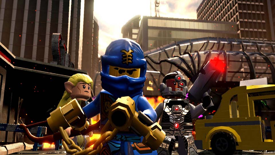 Play Cyborg and Legolas on LEGO Dimensions for Xbox One