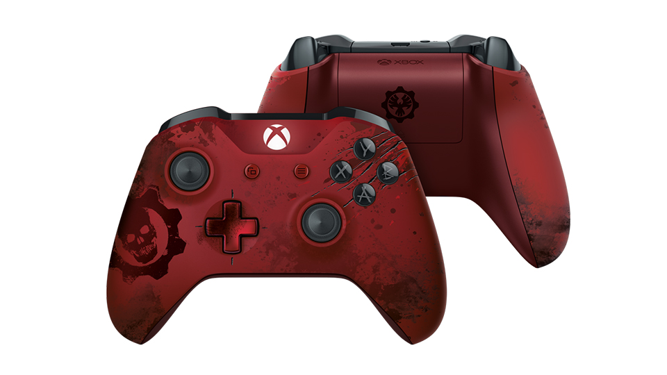 Front and Backside of Crimson Owen Controller