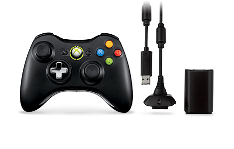 Xbox 360 Wireless Controller with Transforming D-Pad and Play and Charge Kit
