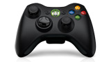 Xbox 360 Wireless Controller left angle view