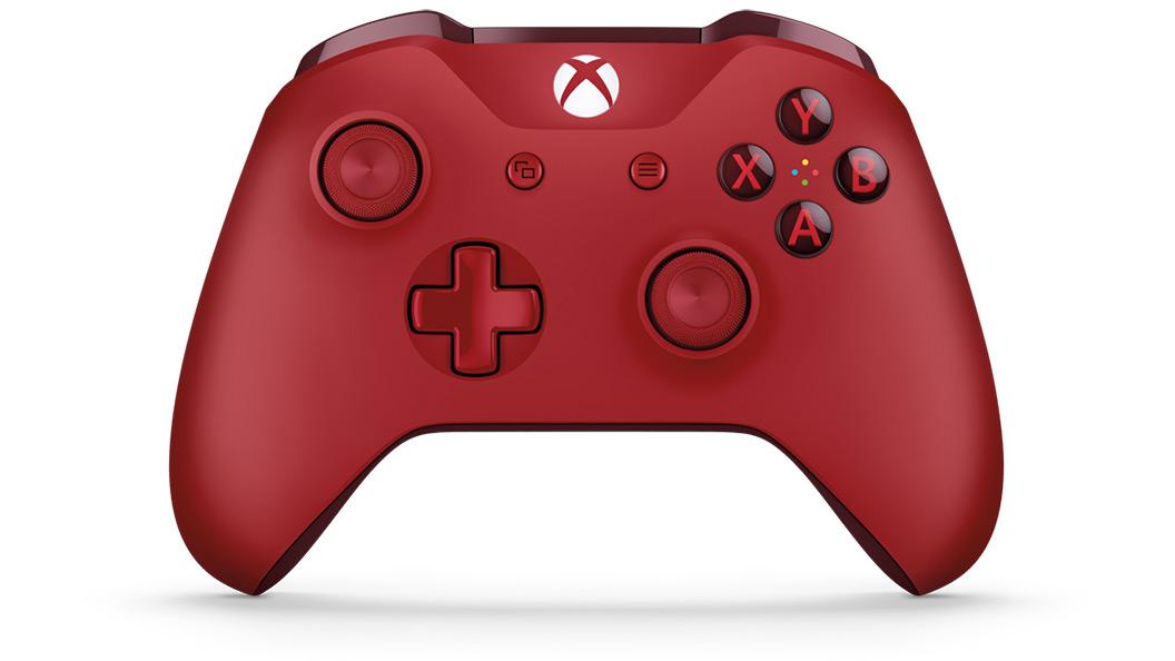 Vista frontal del control rojo
