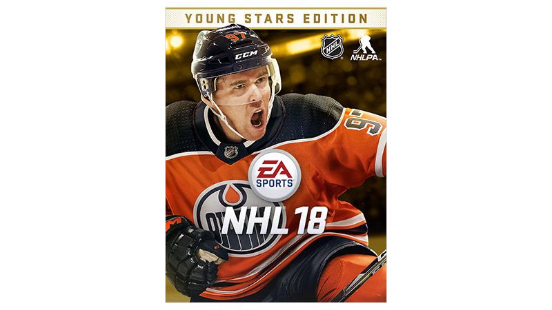 Imagem da caixa do NHL 18 Young Stars Edition