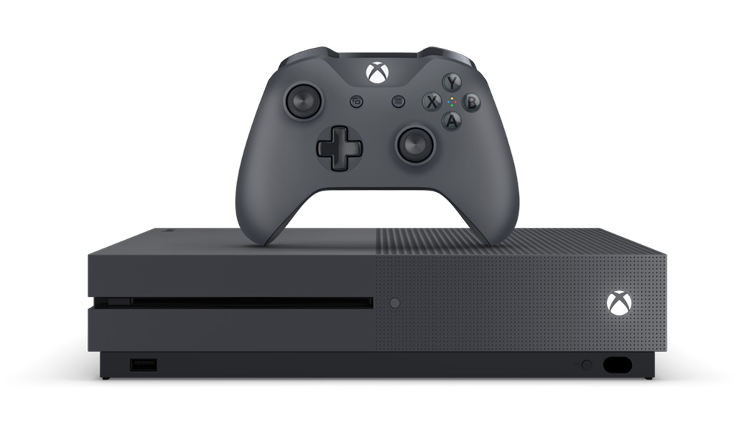 Xbox One S Storm Grey console