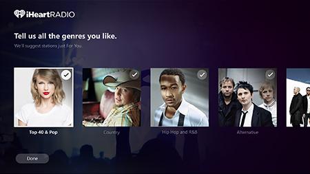 iHeartRadio Genre Picker