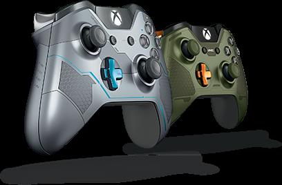 Xbox One ワイヤレス コントローラー (Halo 5: Guardians、マスターチーフ)